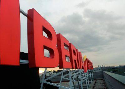Rotulos para azotea Iberia Express