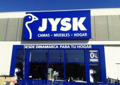 Mantenimiento de rótulos: JYSK Almería