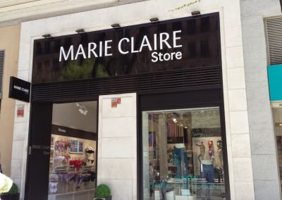 Rótulos para tiendas: Marie Claire Madrid